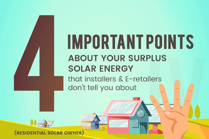 Excess solar energy residential